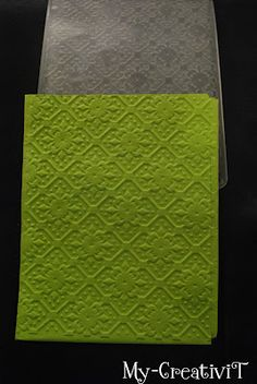 Embossing on tissue paper.  I so have to try this!
