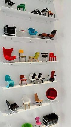 Coleção de Mini Cadeiras