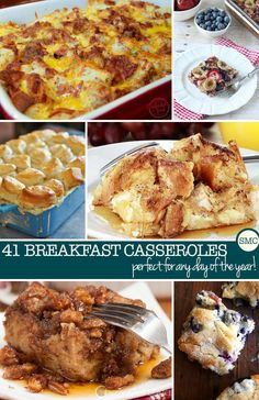 Oh my - these breakfast casseroles look DELICIOUS - and perfect for every occasion too!