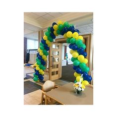 Balloon Arch 🎈 #balloons #colourful #blue #yellow #green #summer #eventplanner #event #eventdecor #weddingplanner #weddings #weddingdecor #decorations #decor #walldecor #festivities #occasion #party #partyrental #oneofakind #yourspecialday #customservice #rubensweddingservice #evedeso #eventdesignsource - posted by Ruben's Wedding Service https://www.instagram.com/rubensweddingservice. See more Event Designs at http://Evedeso.com