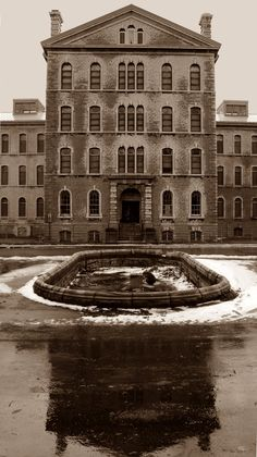 Abandoned Rockwood Insane Asylum, Kingston,Ontario, Canada - opened in 1862 - relied on large quantities of alcohol/day and sedatives/night to control patients until it closed in 1997.  http://queensjournal.ca/story/2006-10-31/news/lives-misery-sadness-and-terror/