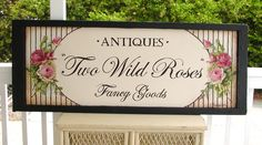 Chateau De Fleurs: I Just Finished A Business Sign For a Cottage~Victorian Store