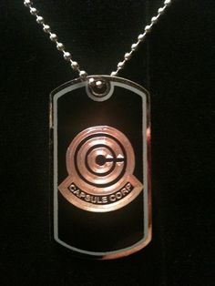 245018b6c0f Dragon Ball Z Capsule Corp Dog Tag Necklace