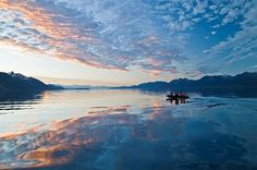 The Magellan Strait, Bahia Parry at sunset