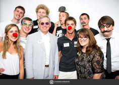 Our Student Government Association Executive Staff + MC President, Dr. Royce at the Welcome Week photo  booth.