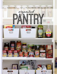 Hi Sugarplum | Organized Pantry See how to makeover your kitchen pantry with easy organization