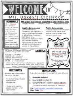 Open House Parent Classroom Information / Meet The Teacher * Editable I found th. Open House Parent Classroom Information / Meet The . Back To School Night, Back To School Teacher, Middle School Classroom, 1st Day Of School, Beginning Of The School Year, Middle School Syllabus, Future Classroom, Teacher Introduction Letter, Letter To Teacher