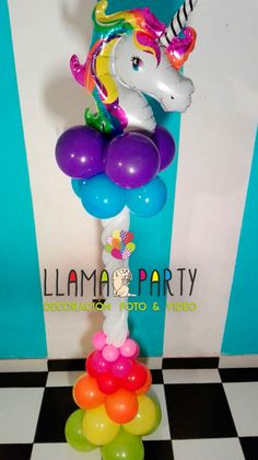 Pilar Unicornio Multicolor!!! Visitanos en LLAMA PARTY JUJUY!