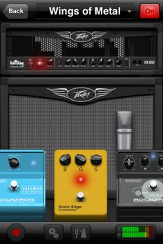 FREE!  AmpKit:  The modeled amps and effects are based on real pro equipment, and sound awesome. The bottom line is that this app lets you do all the crazy things you want.