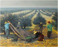 Olive Wedding, Field Of Dreams, Olive Tree, Figure Painting, Gladioli, Landscape Paintings, Fields, Pastel, Drawings