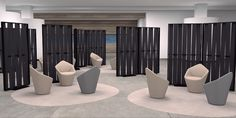 New Product Introduction: MALVA —Movable, room-dividing screens with woven fabric slats create a range of unique design solutions. Interior Design Magazine, Modern Furniture, Furniture Design, Office Furniture Manufacturers, Movable Walls, Space Dividers, Wooden Screen, Room Screen, Malva