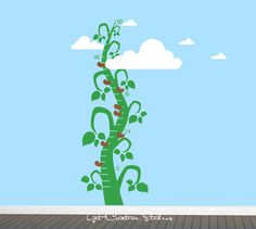Beanstalk Decal Growth Chart Decal Jack and by GetCreativeStudios