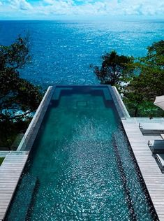 This is amazing villa Amanzi, one of Phuket's most beautiful island treasures. Perched on the ocean bluff in a secluded beach of Phuket, Thailand, this luxury villa offers tremendous ocean views. One of the first things you'll notice is the…Read more › Beautiful Pools, Beautiful Places, Beautiful Pictures, Beautiful Ocean, Beautiful Life, Outdoor Spaces, Outdoor Living, Outdoor Pool, Living Pool