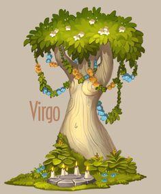 Amazing trees. Zodiac on Behance Alexandra Semushina