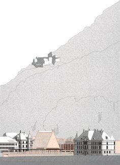 National Parliament Principality of Liechtenstein / Hansjoerg Goeritz Architekturstudio - context elevation
