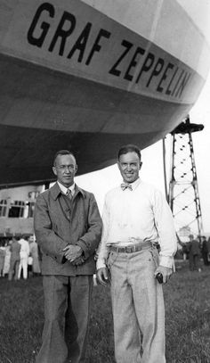 """Lincoln Ellsworth and E. H. Smith ◾Lincoln Ellsworth, polar explorer and representative of the American Geographical Society. ◾Lieutenant Commander Edward H. (""""Iceberg"""") Smith, of the United States Coast Guard and the International Ice Patrol."""