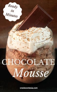 Chocolate Mousse-Creole Contessa #delicious #recipe #cake #desserts #dessertrecipes #yummy #delicious #food #sweet