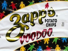 I've gone on record stating that I don't like kettle-style chips, but that was before I had Zapp's, a regional brand available throughout Louisiana.* Their regular flavor are thick-cut, extra crunchy, and very light blond in color, as all good chips should be, but it's their specialty flavors that really shine.