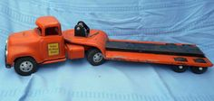 Rare Vintage Tonka State Hi-Way Lowboy Toy Tractor Trailer in Toys & Hobbies, Diecast & Toy Vehicles, Cars, Trucks & Vans, Vintage Manufacture | eBay