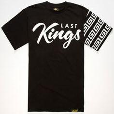 579cf8e04ff69 LAST KINGS Checked Mens T-Shirt Mens Printed Shirts