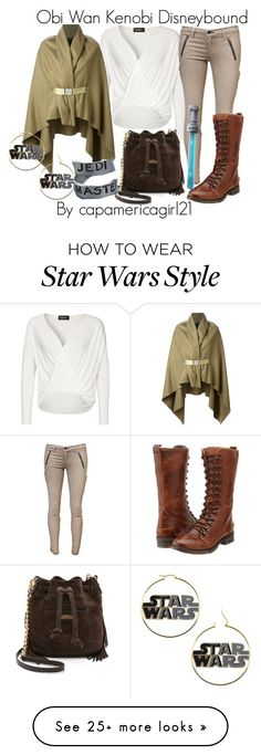 """Obi Wan Kenobi Disneybound"" by capamericagirl21 on Polyvore featuring Maison Margiela, rag & bone, Bed