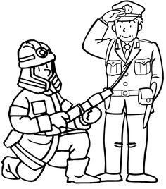 Kleurplaten Politieagent.Kleurplaat Van Brandweerwagen Knutselen Pinterest Brandweer