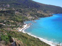 Zola Village and Agia Kyriaki Bay, Kefalonia, Greece