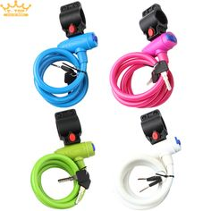 Bike Bicycle Lock Cable Heavy Duty Combination Chain Security Spiral Cable