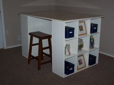 Build a Cubby Bookcases Modular Office Collection - Free and Easy DIY Project and Furniture Plans - bjl Home Office Furniture, Furniture Plans, Home Furniture, Ana White, Easy Diy Projects, Home Projects, Scrapbooking Table, Project Table, Project Ideas