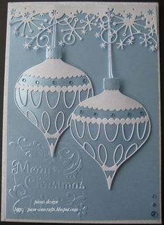 new memory box. Colette Ornament. quick Christmas card