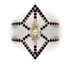 Bohemian Diamond Engagement and Wedding ring, Modern diamond ring, Diamond Bridal ring, Diamond stone ring, diamond wedding proposal ring by BridalRings on Etsy https://www.etsy.com/listing/274831766/bohemian-diamond-engagement-and-wedding