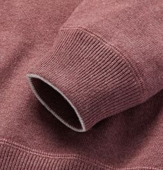 Refined knitwear is the mark of any well-considered wardrobe, and <a href='http://www.mrporter.com/mens/Designers/Brunello_Cucinelli'>Brunello Cucinelli</a>'s sweaters set the standard. Impeccably crafted in Italy from the softest cashmere, this relaxed raglan style has ribbed trims for structure and the brand's signature contrast trim along the collar and cuffs. It's cut in a loose silhouette so it will fit comfortably over a tee or button-down shirt.