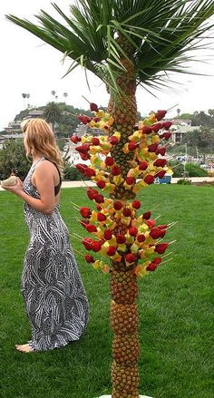 Pineapple Tree with Fruit Skewers   Flickr - Photo Sharing!
