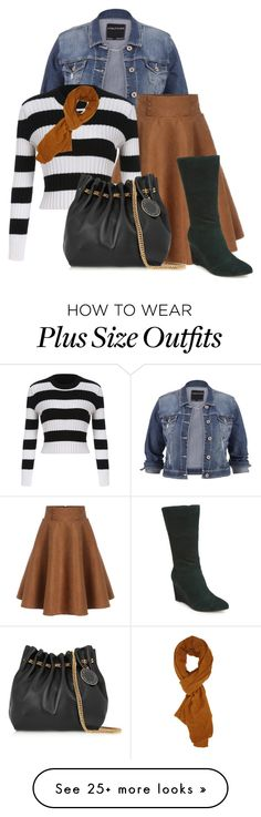 """""""fall stripes"""" by rvazquez on Polyvore featuring maurices, STELLA McCARTNEY, Nicole Miller and Forever 21"""