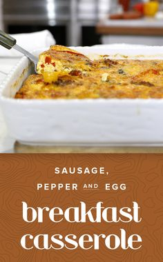 Try this easy recipe for an Italian breakfast casserole with eggs, peppers and sausage. It's fit to feed a crowd for brunch.