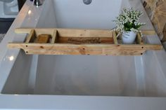 Rustic Bath Tray and Shower Caddy/Set of 2 by SharonMfortheHome