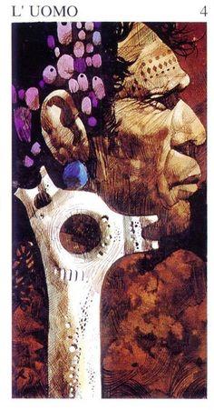 IV. The Emperor ( L' Uomo) - Tarot of the Origins by Sergio Toppi