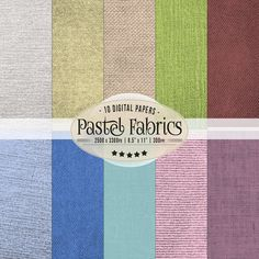 Pastel Fabrics Digital Papers, Digital Scrapbook Paper, Fabric Textures, Printable Digital Papers 11 x 8.5, Premade pages Scrapbooking