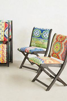 Suzani Terai Folding Chair - anthropologie.com For my dream bohemian themed girl cave