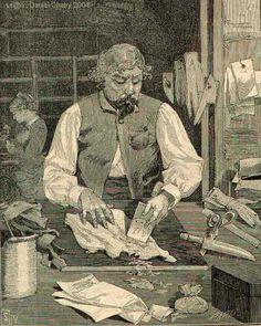 Gantier ; Fabricant de gants.
