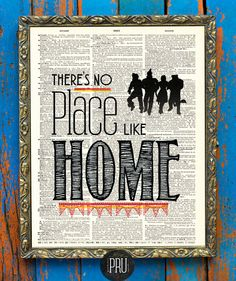 There's No Place Like Home Wizard of Oz Print on by PrudencePrint