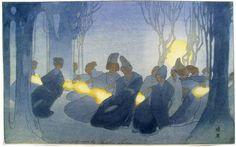 Woodblock prints (Estampes) :: Goblin Dance by Bertha Lum