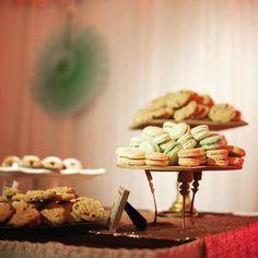 Macaron cookie wedding dessert bar