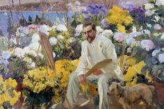 Joaquin Sorolla, Louis Comfort Tiffany, 1911, Öl auf Leinwand, 150 x 225.5 cm, On loan from the Hispanic Society of America, New York, NY, Photo © Courtesy of The Hispanic Society of America, New York.