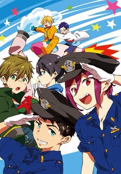 Rin Matsuoka, Sosuke Yamazaki, Makoto Tachibana, Haruka Nanase, Nagisa Hazuki, Rei Ryugazaki