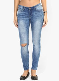 ONLY Skinny Jeans With Faded Crinkle Effect by koovs.com   jeans for women  online in india   Pinterest   Crinkles, India and Skinny jeans