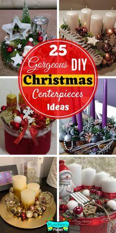 25 Elegant & Cheap Christmas Table Centerpieces