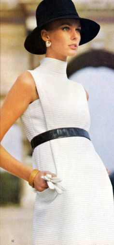 1960's, when fashion was truly innovative, and clothes were well made and fitted beautifully!