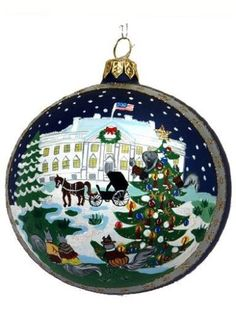 Linda-Tripp-039-s-Limited-Edition-The-President-039-s-House-Ornament