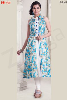 Incredible Achkan Kurti Style with Lace & Printed Work Message/call/WhatsApp at +91-9246261661